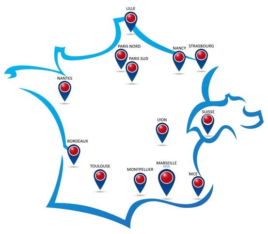 Les agences Itesa en France